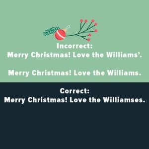 common Christmas grammar and spelling mistakes
